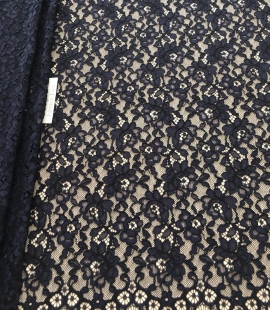 Blue lace fabric