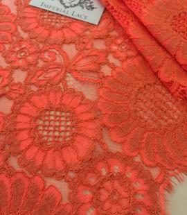 Orange Lace Fabric