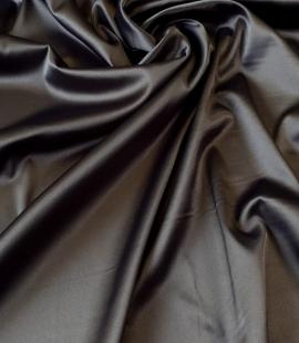 Tumši pelēks satīna audums ar elastānu