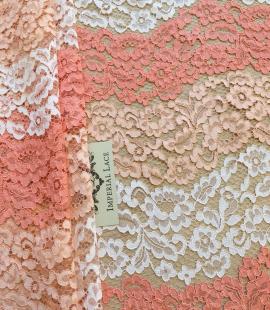 Multicolor lace fabric