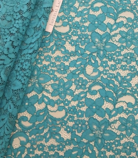 Turquoise guipure lace Fabric