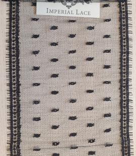 Melna kokvilnas chantilly mežģīnes maliņa no Jean Bracq