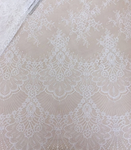 Off white chantilly lace fabric