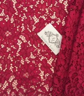 Burgundy Lace Fabric