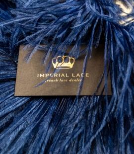 Tumši zilas dabīgas strausa spalvas