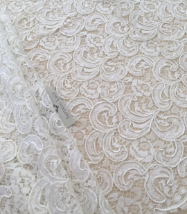 Ivory bridal lace fabric