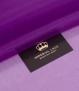 Violets zīda organzas audums