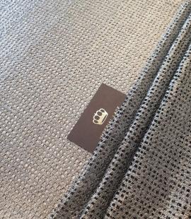 Metallic color guipure lace fabric