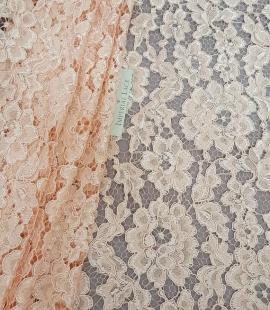 Salmon Lace Fabric