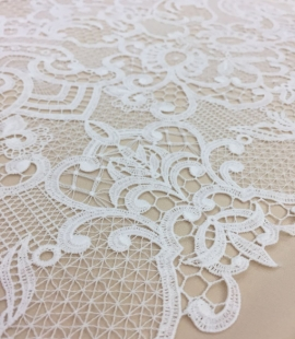 Off-White macrame lace fabric