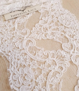 White French lace trim