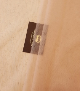 Nude 100% polyamide clear invisible tulle fabric