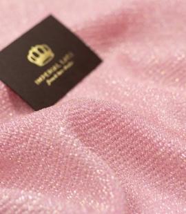 Putekļains rozā zīds ar Lurex zelta un sudraba diegu