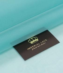 Tiffany zils zīda organzas audums