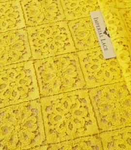 Yellow lace fabric