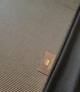 Black guipure mesh lace fabric