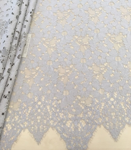 Gray lace fabric