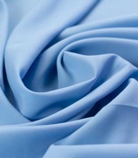 Zils zīda un elastāna krepa audums