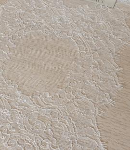 Ziloņkaula krāsas chantilly mežģīnes maliņa no Francijas