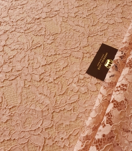 Light old rose guipure lace fabric