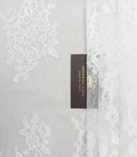 Piena balts ziedu chantilly mežģīņu audums