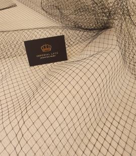 Melnas cepures tīkla tilla audums