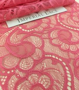Aveņu rozā elastīga mežģīnes maliņa
