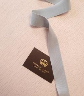 Gaiši pelēcīgi zila grosgrain lente