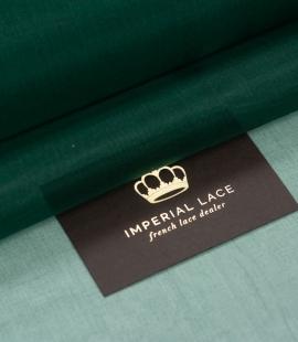 Rubīna zaļš zīda organzas audums