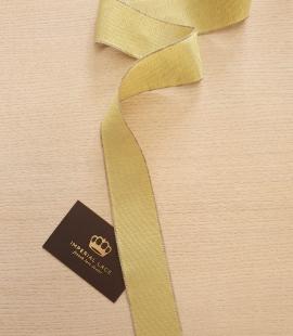 Pistācijas zaļās grosgrain lentes linu lentes aplikācija