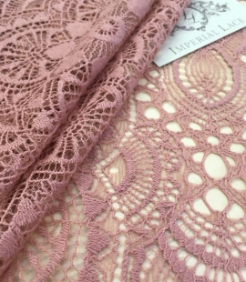 Old Rose lace fabric