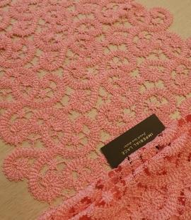 Rozā macrame mežģīnes maliņa