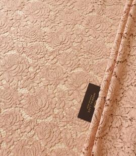 Nude guipure lace fabric
