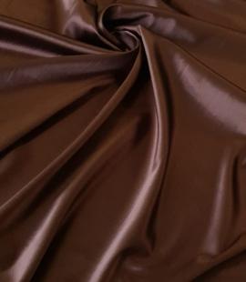Šokolādes brūns satīns ar elastānu