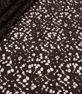 Dark brown guipure lace fabric