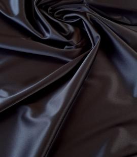 Tumši zils satīna audums ar elastānu