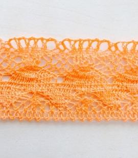 Oranžas krāsas kokvilnas mežģīņu maliņa