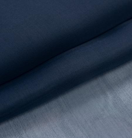 Tumši zils zīda organza audums. Photo 7