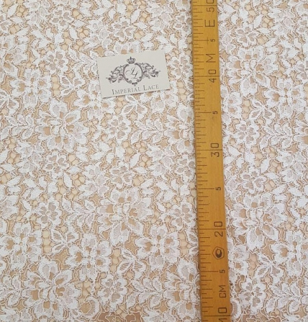 Ivory with Brown Lace Fabric. Photo 5
