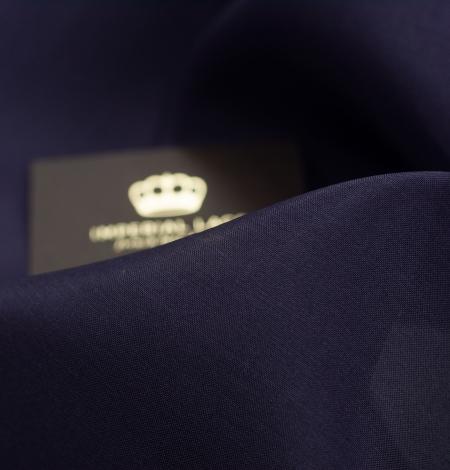 Lillīgi zils bieza zīda organzas audums. Photo 5
