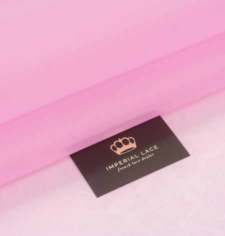 Bubble gum rozā zīda organzas audums. Photo 1