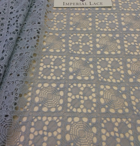 Grey Lace Fabric, French Lace. Photo 2