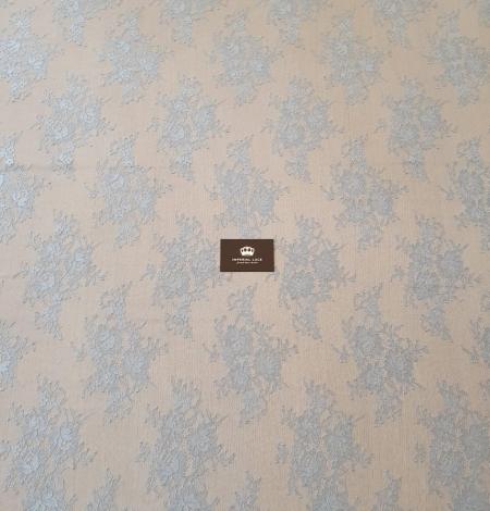 Zili pelēka Puķaina Cantilly mežģīne. Photo 7