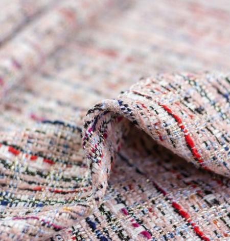 Rozā krāsā ar daudzkrāsainu tvīda audumu. Photo 2