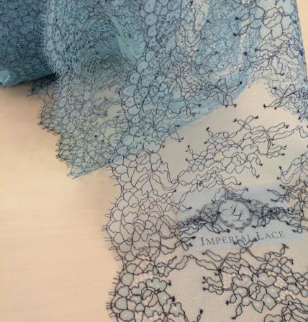 Gaiši zils ar melnu mežģīņes maliņa. Photo 3