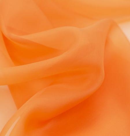 Oranžs zīda organzas audums. Photo 2