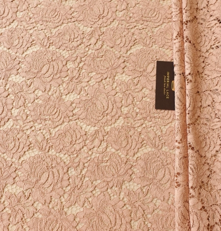 Nude guipure lace fabric. Photo 3
