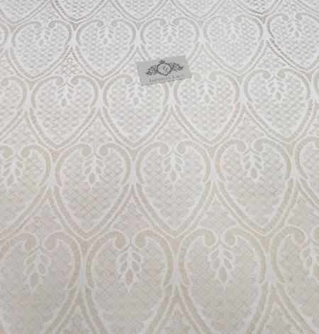 Ziloņkaula figūru mežģīņu audums. Photo 2