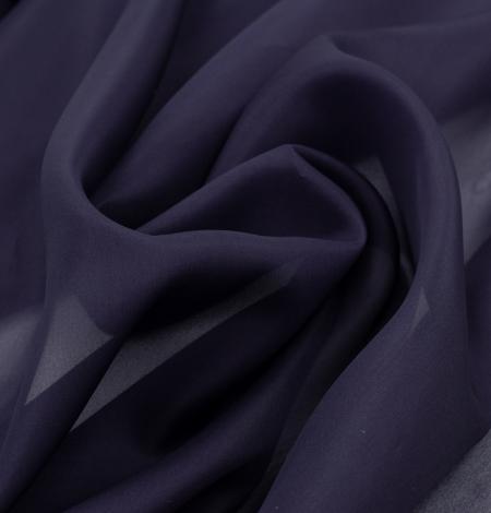 Lillīgi zils bieza zīda organzas audums. Photo 3