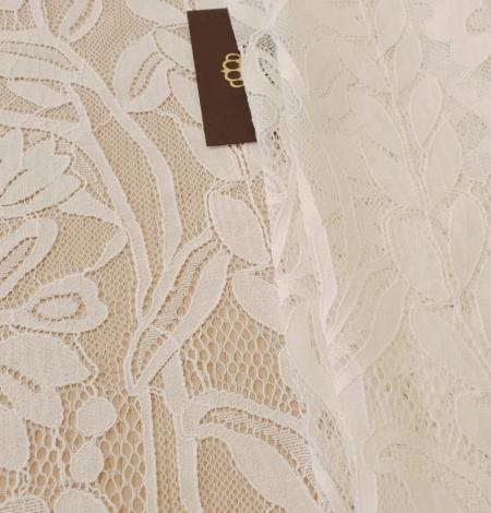 Ziloņkaula puķaina Chantilly mežģine. Photo 2